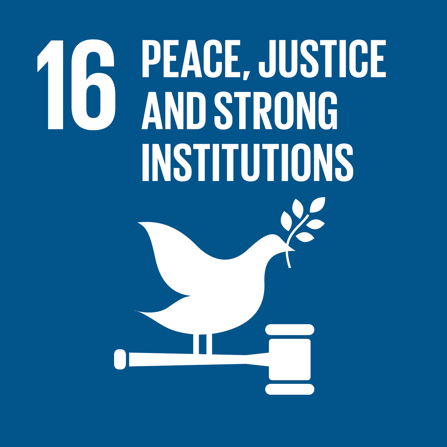 peace justice and strong institutions icon